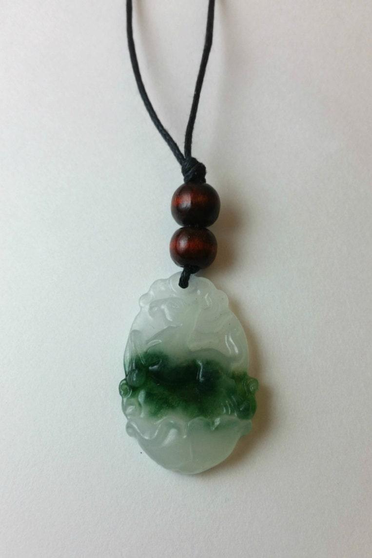chinese zodiac horse jade necklace