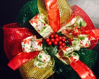 Poinsettia Christmas Bows