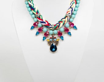 Jamiya Statement Plaited Jewel Necklace