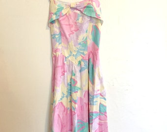 Pastel Floral Picnic Dress // Clubhouse by Ceeb // Size 8