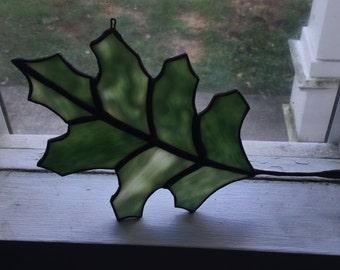 Stained Glass Oak Leaf Sun Catcher