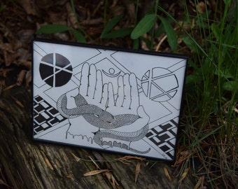 Idle Hands Original 5x7 Drawing