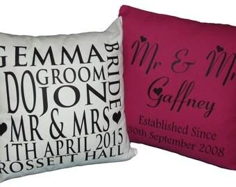 Personalized Wedding / Anniversary Cushions