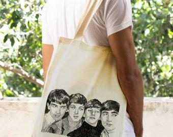 Beatles Tote bag, Music lovers shopping Bag, Vegan shoulder bag, beach tote, canvas tote bag, Market Bag, The beatles Fashion