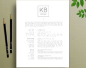 Professional Resume Template and Cover Letter, References Template, Word, A4 Resume, Creative Resume Template, Instant Download, Kennedy