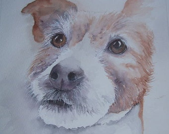 Terrier watercolour painting