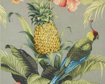 Tommy Bahama Outdoor Curtains - Pineapples and Tropical Birds -  Island Curtains - Tropical and Sunny!