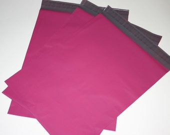 20 12x15.5 Poly Mailers Raspberry Pink Self Sealing Envelopes Shipping Bags Spring Easter