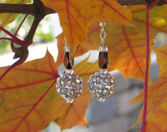 Sparkly Silver Drop Earrings
