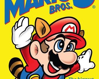 Super Mario Bros 3 NES High Resolution Retro Poster (18 x 24 or 24 x 36)