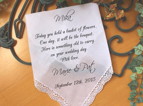 Flower Girl Baskets Canada : Flower girl handkerchief today you hold a basket of flowers
