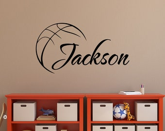 Exceptionnel Basketball Wall Decal Name  Basketball Personalized Boy Decal  Boy Name Wall  Decals  Basketball