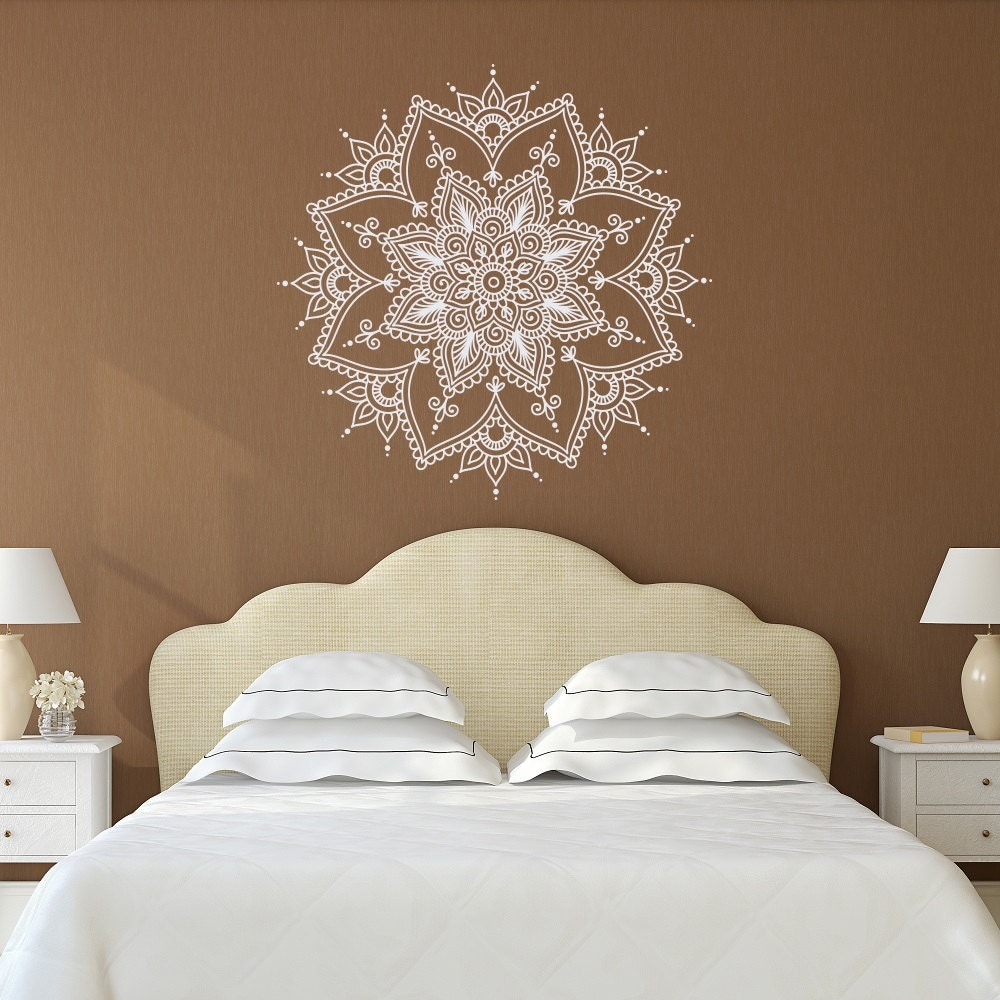 Mandala Wall Decal Mandala Decal Yoga Studio Decor Bohemian