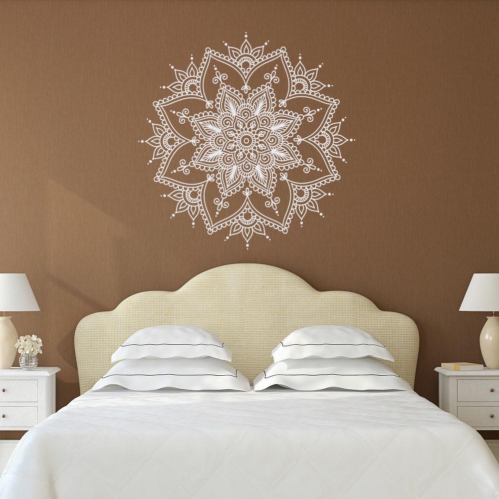 mandala wall decal mandala decal yoga studio decor bohemian. Black Bedroom Furniture Sets. Home Design Ideas