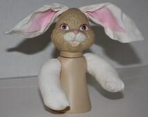 Fibre Craft 5-3/ in Barnyard Friends Brown Bunny Rabbit Plastic Air Freshener Doll NEW RARE HTF Home Decor