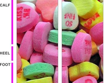 Conversation Hearts - Valentines - Socks