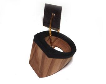 Black & Olive Wood Ring