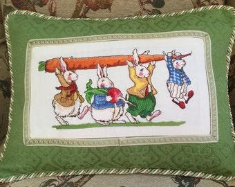 Adorable Bunny Parade Pillow