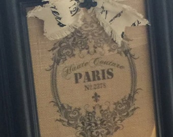 Burlap Paris Couture Print