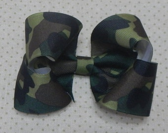 Military Camouflage Bow, Military Bow, Boutique Bow,Girls Bow,Hair Bow, Hair Accessories