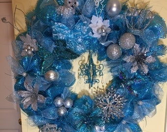 A holiday wreath for a prince or princess