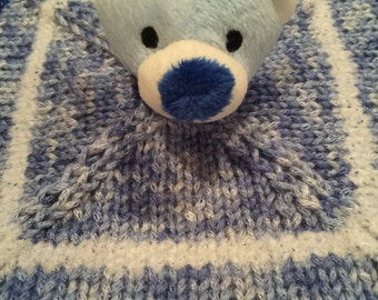 Teddy lovey blankie wubby woobie comfort security blanket - removable teddy