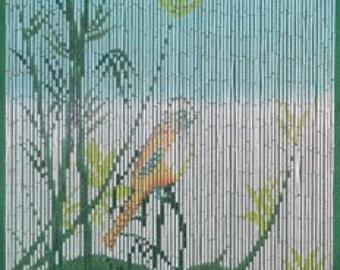 Bird On A Tree Bamboo Curtain