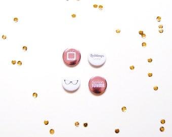 "Button set ""Series"", set of 4"
