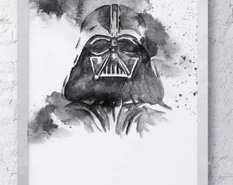 Star Wars Watercolor Darth Vader Print