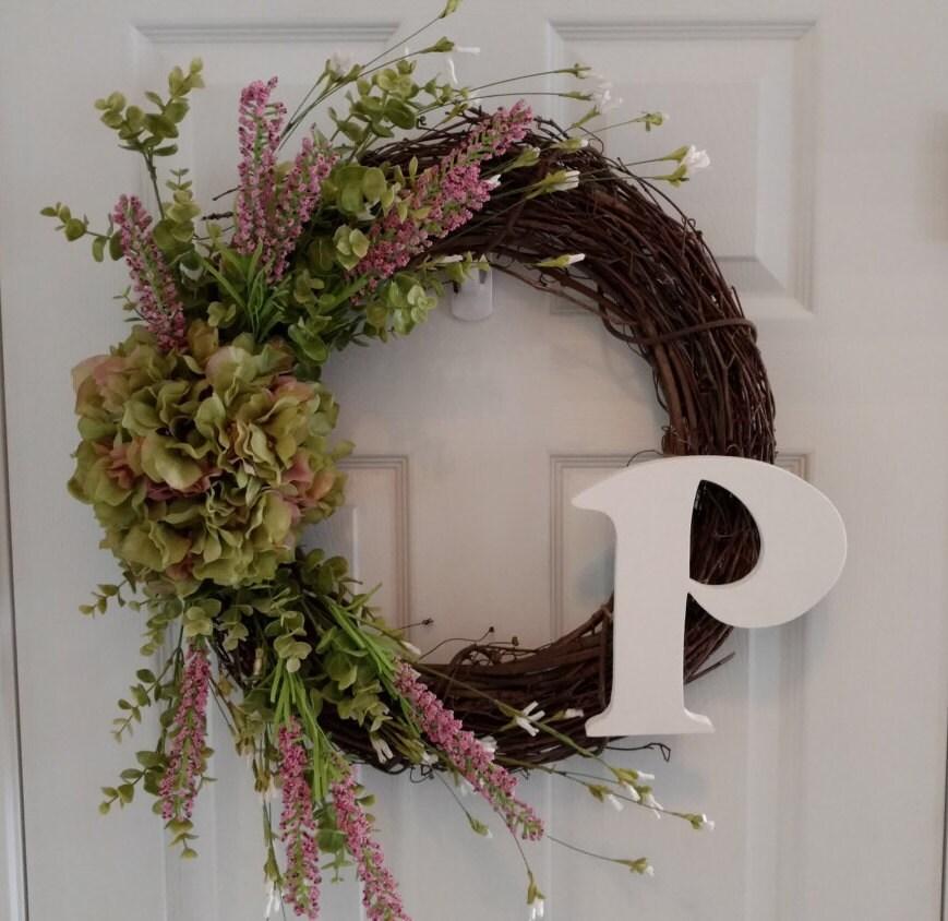 Spring Wreath Summer Wreath Front Door By Cookielovescrafts