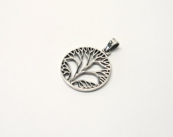Tree of life world tree 925 Silver tree of life pendant