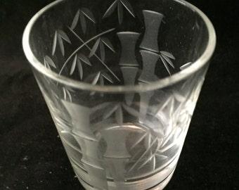 Bamboo Pattern Shot Glass
