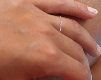 Sterling Silver Teeny Tiny Thin Ring, Thin Ring, Silver Stacking Ring, Thin Band Ring, Stackable Ring, Stacking Ring, Silver Band