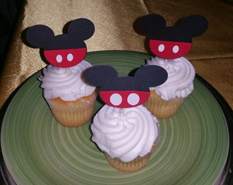 Mickey Mouse Cup cake toppers, Disney Parties, Birthday parties,Mickey Baby showers.