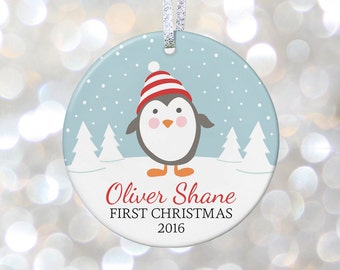 Personalized Babys First Christmas Ornament, Baby Shower Gift, My 1st Christmas New Baby Christmas Gift for Newborn First Baby Ornament