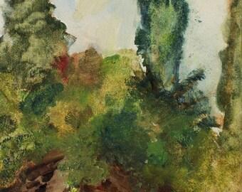 Study at Boboli Gardens - oil on canvas