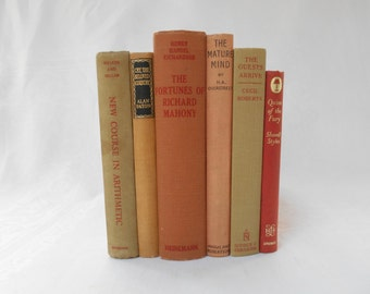 Sage and Coral Antique Collection Vintage Books, Instant Library, Books for Decor