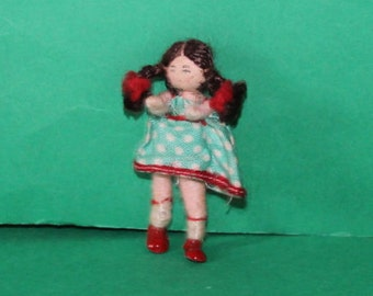 Vintage Dolls House Girl Grecon Doll KM6020
