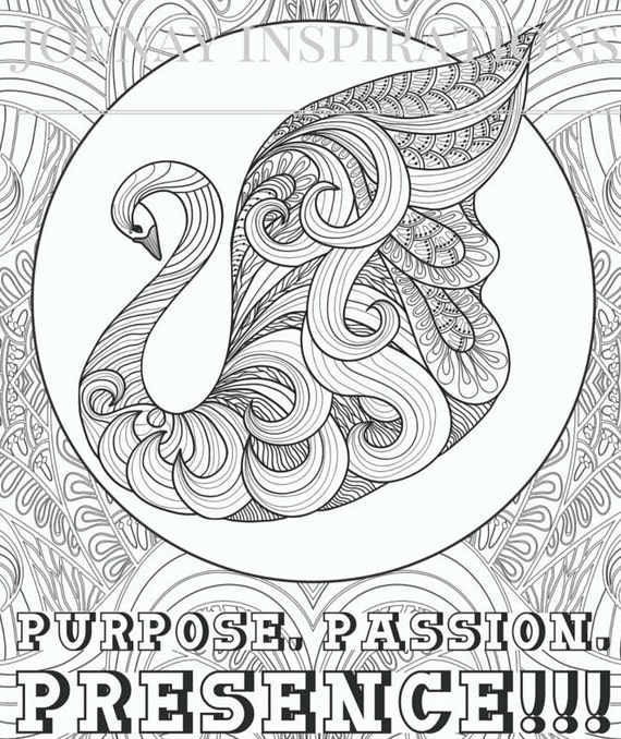 Adult Coloring Book Printable Coloring Pages, Coloring Pages, Coloring Book for Adults Instant Download Inspiration and Affirmation 1 page10