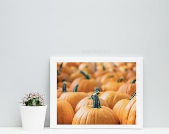 Pumpkin photo print - Autumn fall decor - Orange pumpking photo - Pumpkin wall art - Printable gift - Pumpkin photography