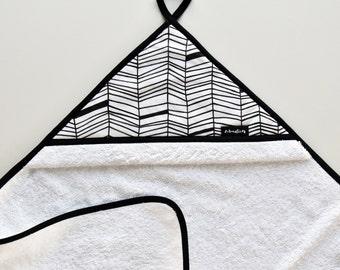 White bathcape with unique pattern