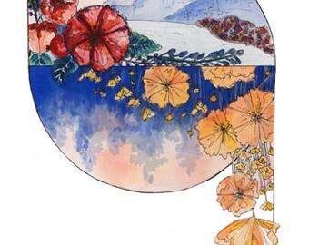 Floral Ying Yang