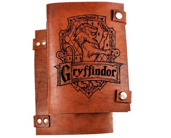 Gryffindor notebook - Harry potter notebook - gryffindor journal - harry potter diary - leather journal