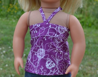 18 inch American Girl Doll Clothes -  Miniskirt, Bandeau Top, and Sandals