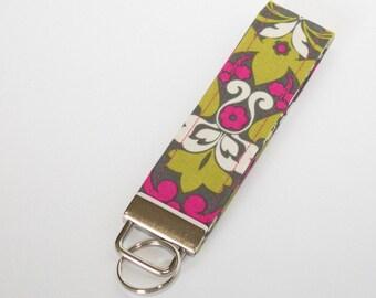Floral Key Fob / Key chain / Wristlet / Lanyard