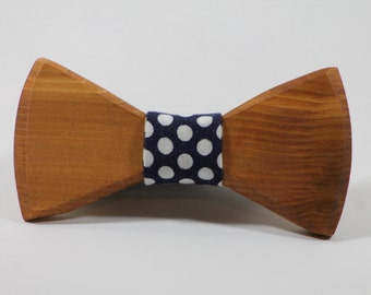 FREE SHIPPING> Wooden Bow Tie, Polk a Dot