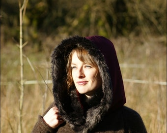 Cosy winter hoods. Like a snood, a scarf and a hat all rolled into one big ball of fluffy gorgeousness.