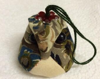 Handmade Cute Owl hanger ornaments oatmeal gift-flower Green Ivory