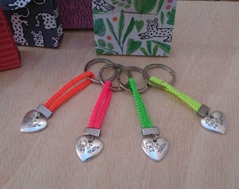 MAMA Keychain, Keychain for Mother's Day / Key fluorescent breast / gift for mothers