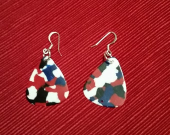Guitar Pick Dangle Earrings are a must for your next concert!